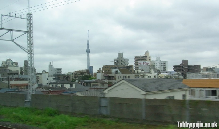 Tokyo Sky Tree coming into view