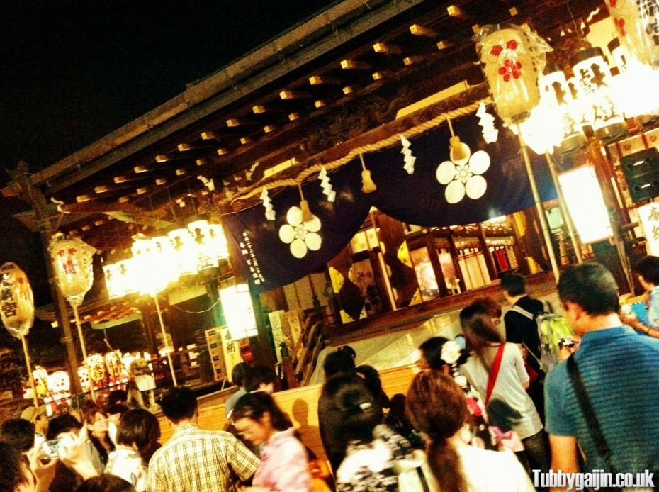 Tenjin Matsuri, Yomiya-sai(Pre-evening festival) at Temmangu Shrine