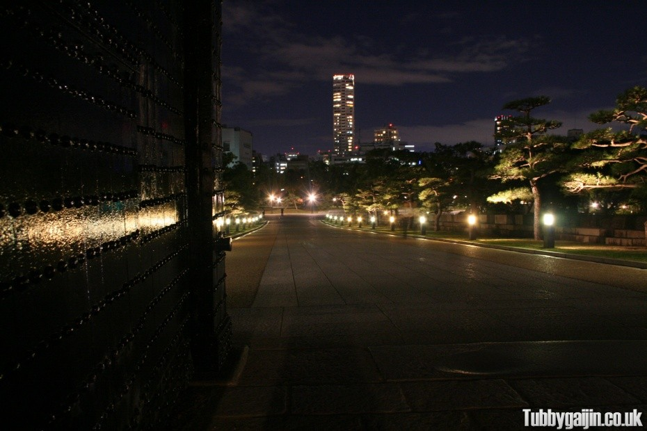 An evening walk around Osaka Castle
