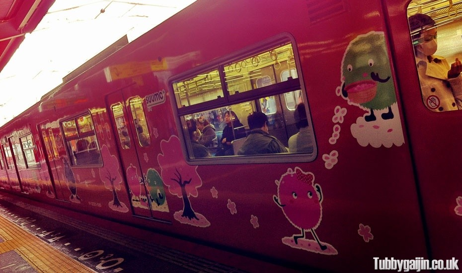 Train decals in Osaka